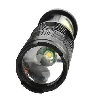 Built in battery XP-G Q5 Zoom Focus Mini led Flashlight Torch Lamp Lantern 2000 Lumen Adjustable Penlight Waterproof T6 light 4