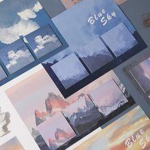 Bloc-Notes adhésif, bloc-Notes adhésif, montagne, mer, ciel bleu, coucher de soleil, fleur, treillis, bloc-Notes, planificateur, bureau, école
