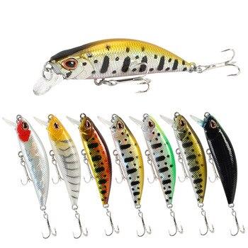 1PCs Crankbait Fishing Lures Fishing Lure Artificial Fishing Lure River Minnow Hard Bait Wobbler 5.5cm/5g Mini Fishing Lures