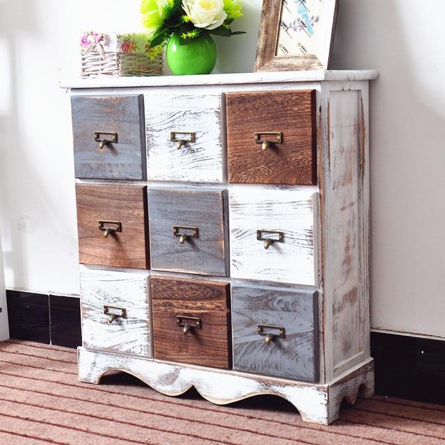 Retro Style Living Room Storage Table 1