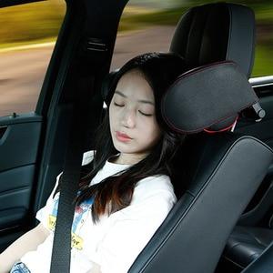 Image 5 - Sleep เด็กสนับสนุนรถที่นั่งพับเบาะกันกระแทกปรับอัตโนมัติด้านข้าง PU หนังผู้ใหญ่คอหมอน