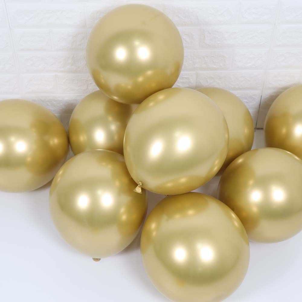 10 Pcs Panjang Baru Mengkilap Logam Mutiara Balon Lateks Tebal Chrome Logam Campuran Warna Inflatable Air Bola Globos Pesta Ulang Tahun dekorasi