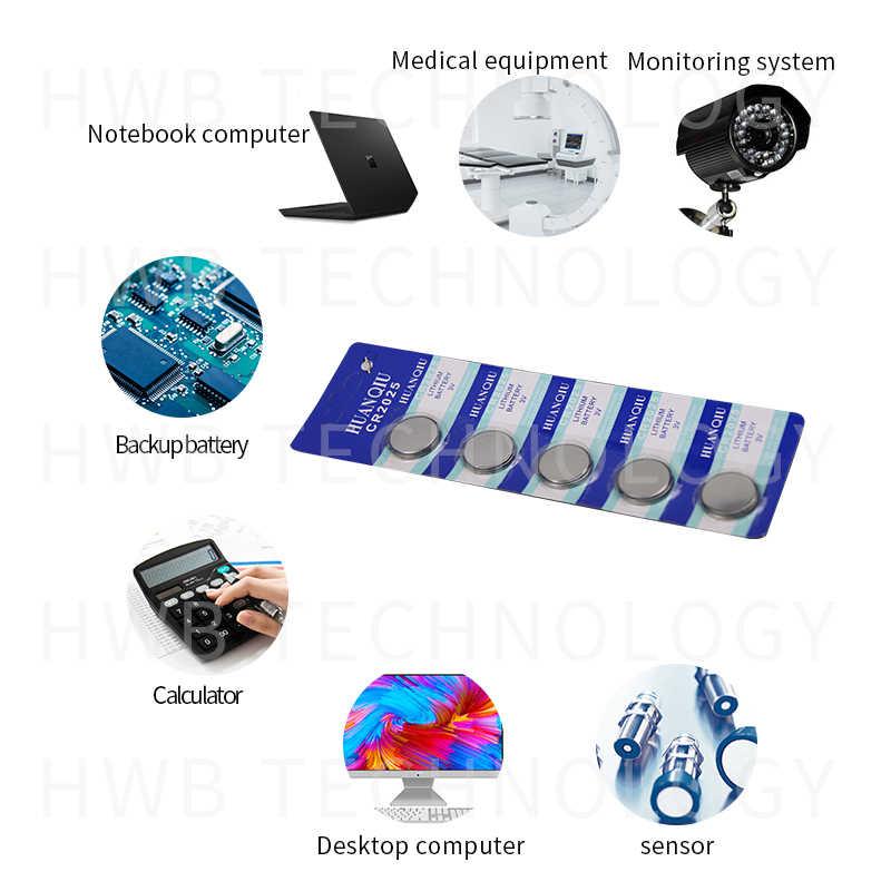 5 unidades por paquete, pilas para monedas CR2025 Batería de botón de litio DL2025 BR2025 KCR2025, 3V CR 2025 para reloj electrónico de juguete, mando a distancia