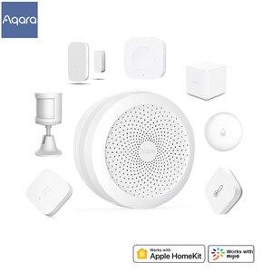 Image 1 - Original Aqara Smart Home Kits Gateway Hub Wireless Switch Door Window Sensor Human Body Water Sensor Works with Apple HomeKit