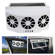 2.4V Solar Powered Car Vehicle Ventilation Exhaust Fan Air Summer Cooling Fan Radiator Car Accessories Interior Hot Sale