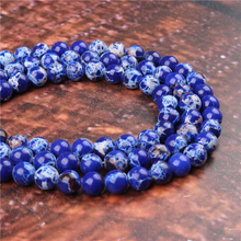 Fashion Emperor Round Beads Loose Jewelry Stone 4/6/8/10 / 12mm Suitable For Making Jewelry DIY Bracelet Necklace