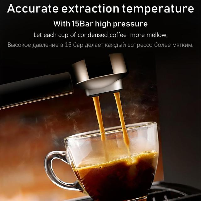 Espresso Electric Coffee Machine Coffee Maker Electric-Horn Cappuccino Capuchinator for Kitchen Household-Appliances Sonifer 6