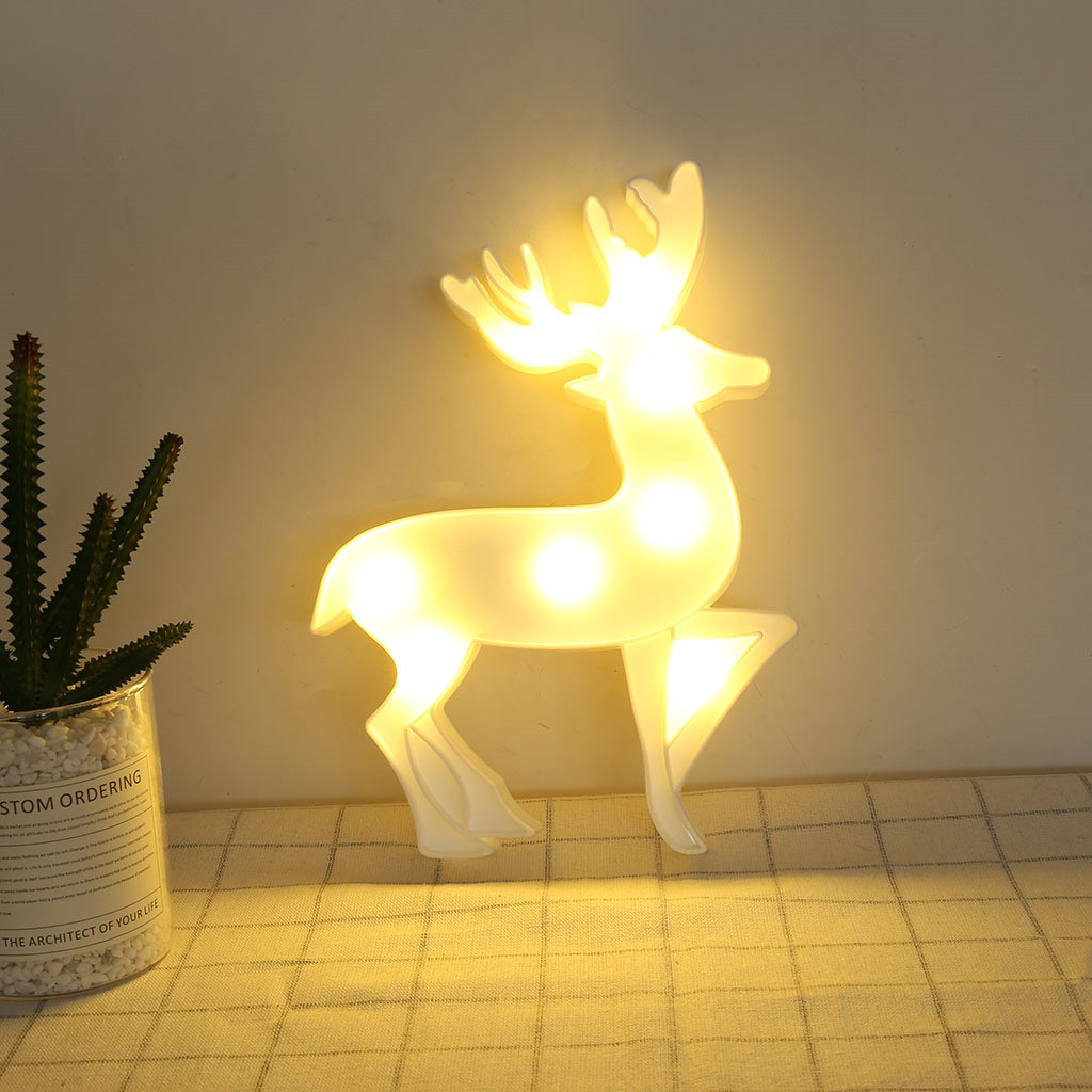 Night Light Explosion Models Elk LED Reindeer Shape Decorative Lights Birthday Proposal Confession Layout Props^15