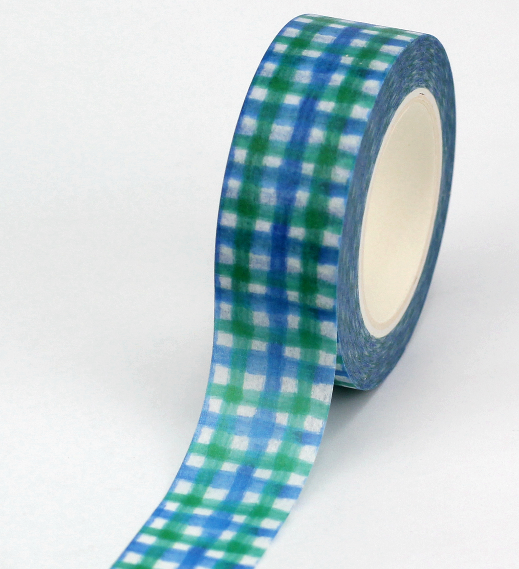 10pcs/lot Decorative Cute Blue Green Plaid Washi Tapes Paper DIY Scrapbooking Planner Adhesive Masking Tapes Kawaii Stationery