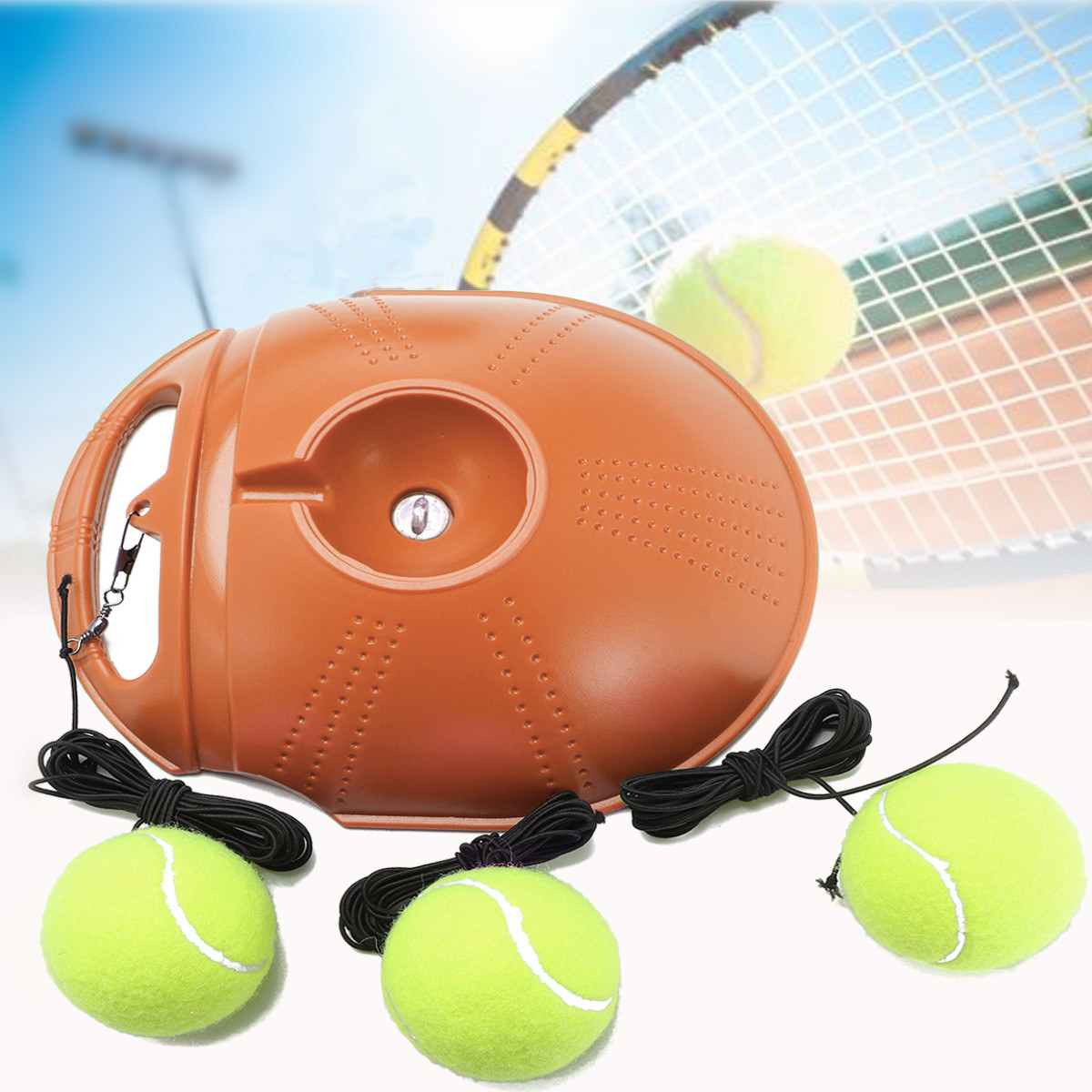 Tennis Trainer and Self-study Tennis Training Tool with Rebound Balls and Baseboard 8