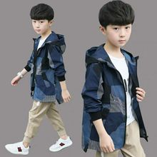 Clothing Windbreaker Spring Children's Boy And Kid Autumn Handsome Mid-Length Big Camouflage