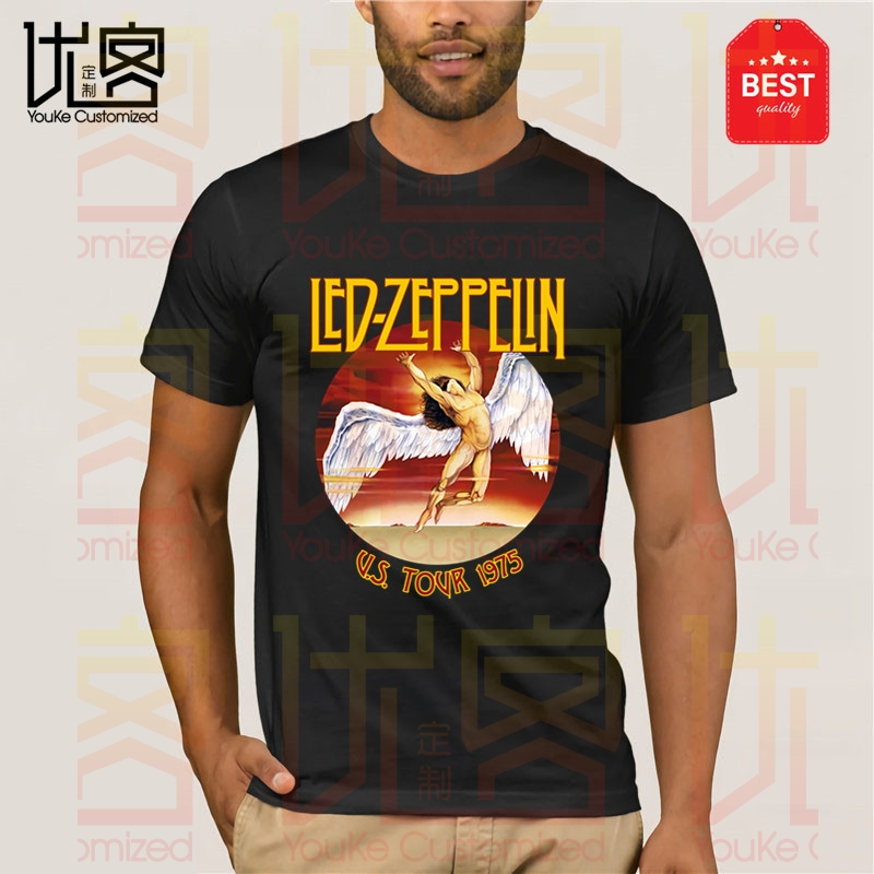 2020 New Led-Zeppelin Rock Band T Shirt Men's Women's Summer 100% Cotton Team Tees Male Newest Top Popular Normal Tee Shirts