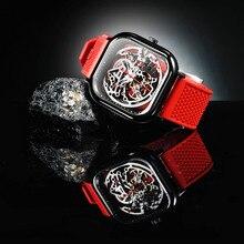 Ciga Ontwerp Mannen Horloges Plein Mechanische Beweging Eenvoudige Waterdichte Zwarte Mannelijke Horloge Heren Horloge Vrouwen Klok Ciga Z Serie