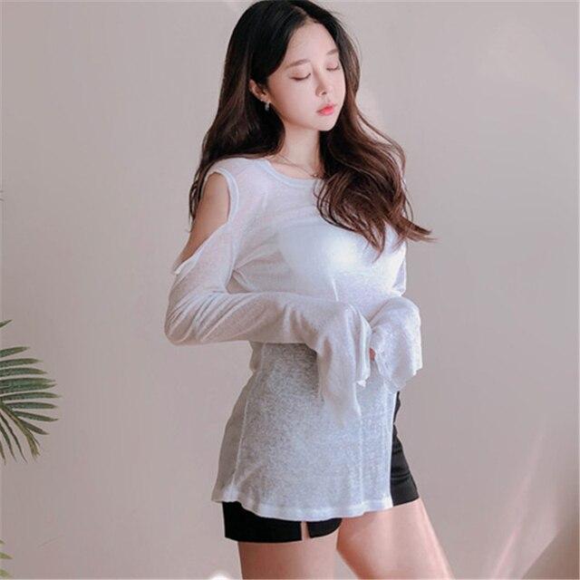 NEW Spring Top Sexy T Shirt Women Elasticity T-Shirt Korean Style tee Woman Clothes Slim Tshirt Female skinny long Sleeve Tops 2