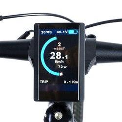 Komputer rowerowy System wyświetlania średniego napędu Panel sterowania miernikiem silnika Bbs01/bbs02/BBSHD 850C miernik rowerowy