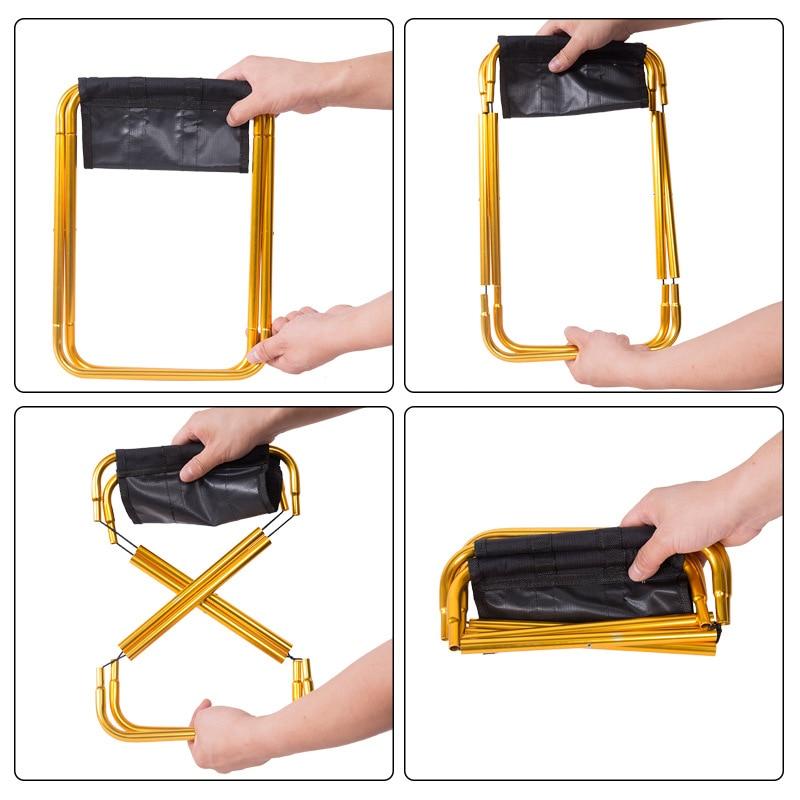 Outdoor Folding Fold Aluminum Chair Stool Seat Fishing Camping Outdoor Foldable Fishing Chair Ultra Light Weight Portable
