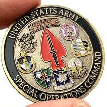 Exército dos eua airborne moeda sine pari operações especiais cpmmand desafio moedas coleção memorial lembranças colecionáveis presentes