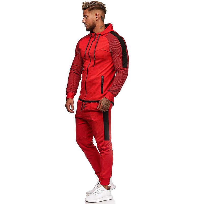 Nam Khoác Áo Bộ 2020 Nam Thời Trang Có Mũ Trùm Đầu Phù Hợp Với Áo Phù Hợp Với Nam Hoodie Quần Quần Jogger Bộ Mùa Đông Tập Gym Sportsuit
