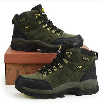 Outdoor Waterproof Hiking Boots Men Women Winter Shoes Walking Climbing Hiking Shoes Mountain Sport Boots Hunting Mens Sneakers 1