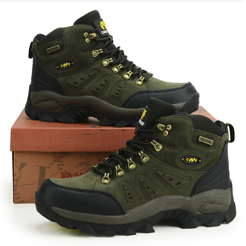 Outdoor Waterproof Hiking Boots Men Women Winter Shoes Walking Climbing Hiking Shoes Mountain Sport Boots Hunting Mens Sneakers