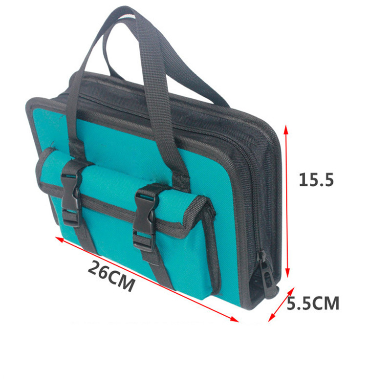Tool Bag 260*155*55mm Waterproof Electrician Tool Bag Oxford Canvas Handbag Organizer Tools Durable