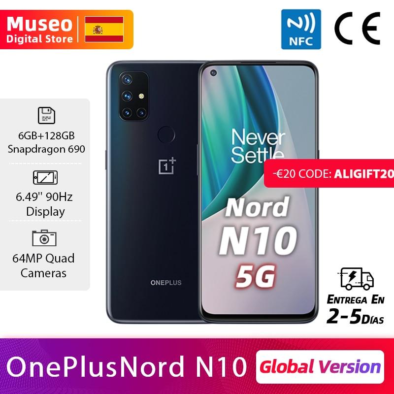 Presale Global Version OnePlus N10 Nord N10 5G Cellphone 6GB RAM 128GB ROM 6.49'' 90Hz Display Quad Camera Warp Charge 30T NFC|Cellphones| - AliExpress