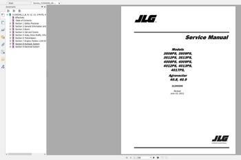 JLG Lift Operators servicio y manuales de pieza 2020 Full PDF 30GB