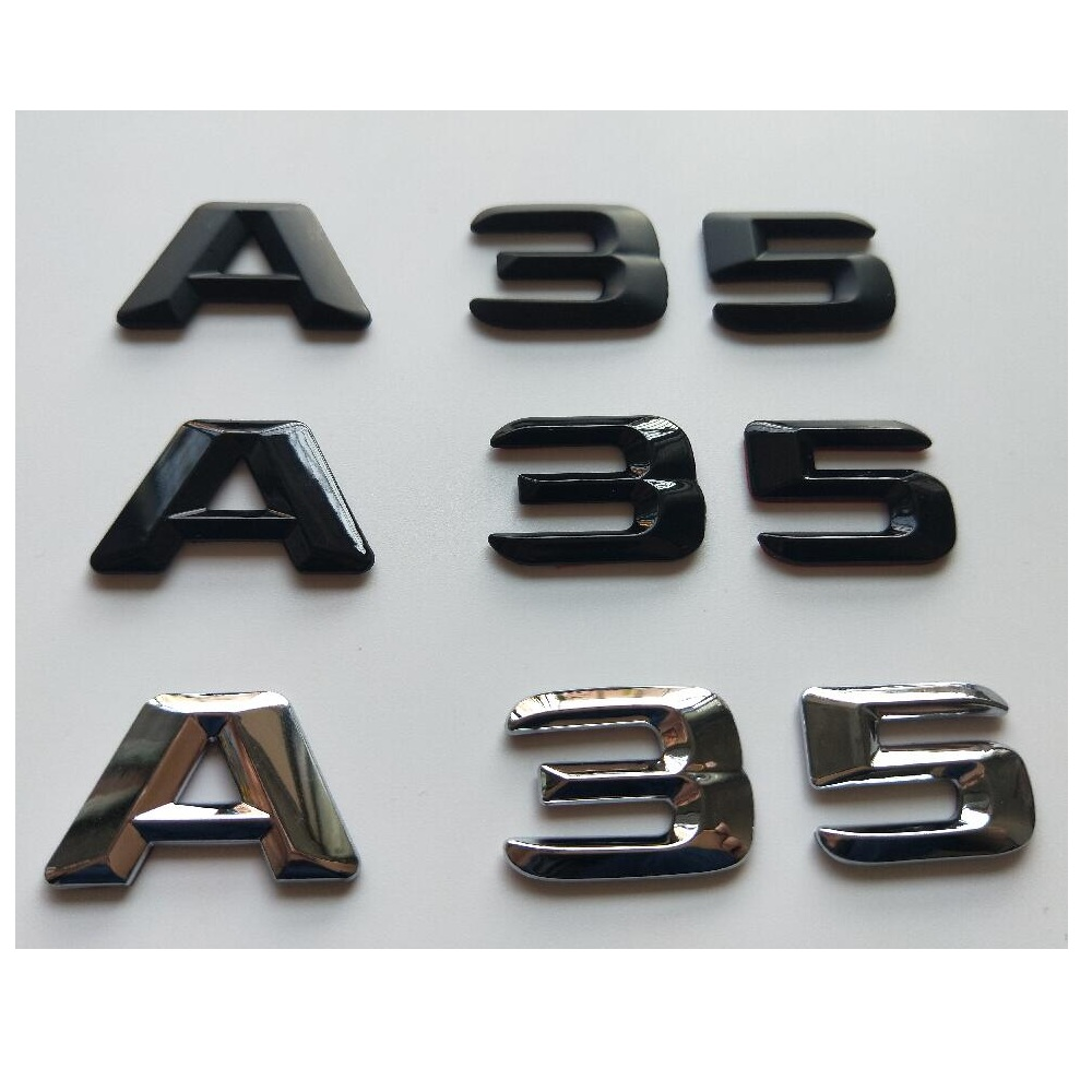 "Gloss Black /"" A 3 /"" Trunk Rear Letters Words Badge Emblem Sticker for Audi A3"