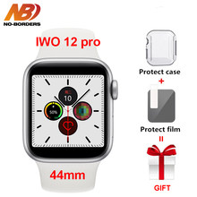 IWO 12 Pro 44mm mężczyźni smart watch series 5 1:1 Case dla apple ios Android VS iwo 11 IWO 10 8 IP68 wodoodporna IWO12 Smartwatch(China)