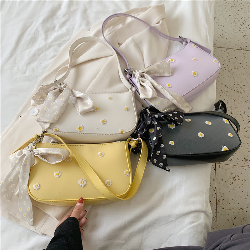 New 2020  Pattern Shoulder Women Bag Hand Bag Personality Wild Fashion Patent Leather Baguette Shape Handbag PU  Crossbody Bag