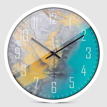 Creative Nordic Wall Clock Bedroom Glass Large Kitchen Wall Clocks Thick Watches Wall Home Decor Novelty Watch Decor New II50WC