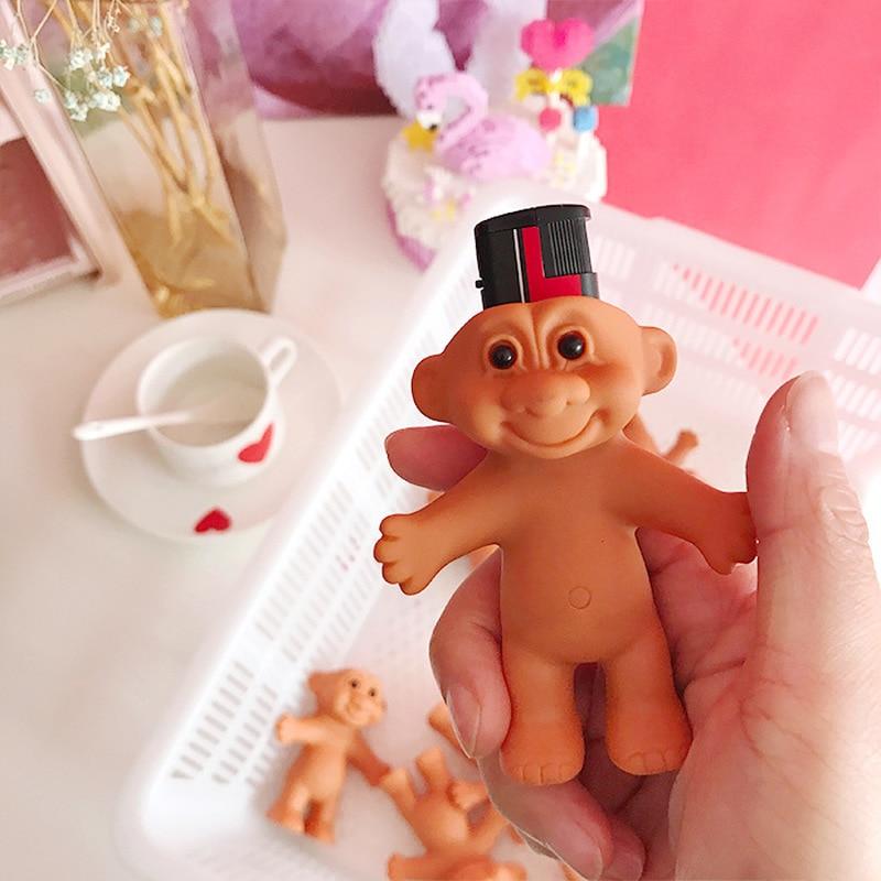 1PCs Silicone Cute Funny Rubber Doll Style Lighter Shell Case Box Lighter Protector Nostalgic Toys Cigarette Accessories 7cm