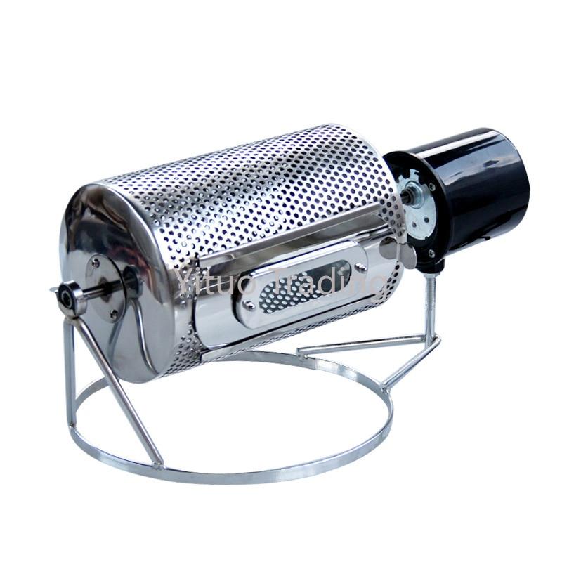 Small Household Drum Type Coffee Bean Roaster 110v/220v Electric Roasted Beans Roasted Coffee Beans Nut Roasting Machine