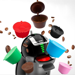 8 Color Plastic Refillable Compatible Coffee Capsule for Dolce Gusto Models Refilling Filter Baskets Pod Cup Coffeeware Gift