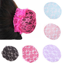 Beautiful Bun Cover Snood Women Hair Net Ballet Dance Skating Crochet Fanchon Lace Flower Styling Headwear Accessories(China)