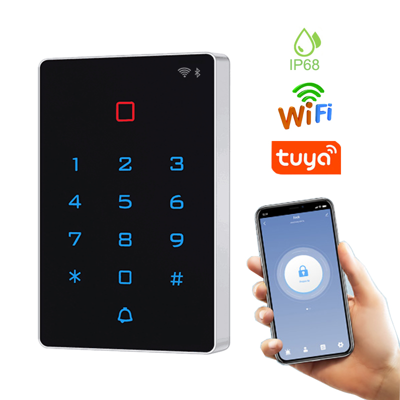 WIFI Tuya Smart Door Lock IP68 Waterproof Door Access Control System Standalone Keypad RFID Card Door Entry Access Controller