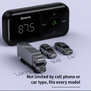Image 5 - Baseus voiture Bluetooth 5.0 sans fil FM émetteur lecteur MP3 récepteur 3A double USB chargeur de voiture allume cigare pour Samsung