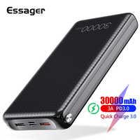 Essager 30000mAh batterie externe Charge rapide 3.0 PD USB C 30000 mah Powerbank pour Xiao mi mi iPhone Portable chargeur de batterie externe