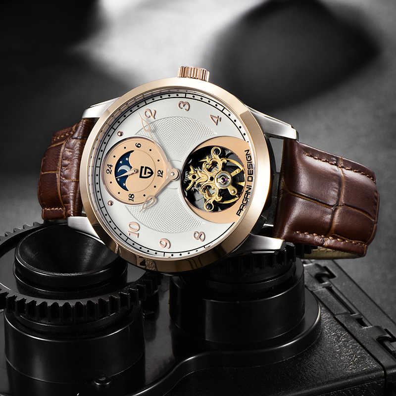 PAGANI PROJETO Marca Top Relógio de Luxo Homens Tourbillon Automatic Relógios Mecânicos Vento Mão Relógio Do Esporte Da Moda Relogio masculino