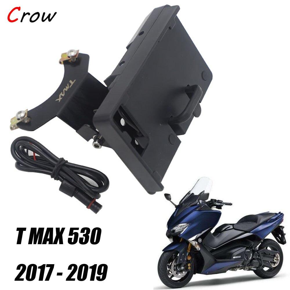 Motorcycle Smartphone Navigation Bracket GPS Board Holder USB For Yamaha TMAX 530 T MAX 530 2017 2018 2019