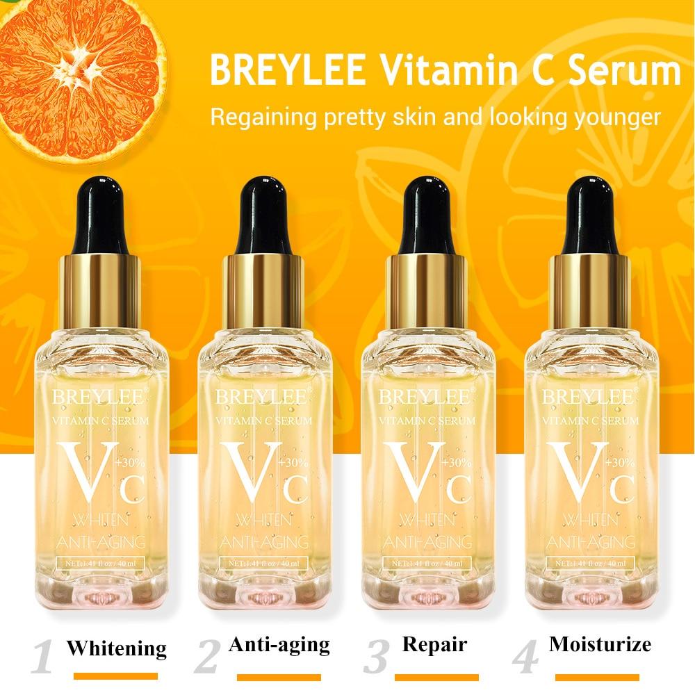 40ml Natural 30% Vitamin C Serum Liquid Hyaluronic Acid Essence Moisturizng Anti Aging Anti Wrinkle Serum Skin Care