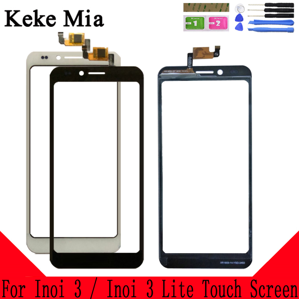 Keke Mia 5.0 Touch Screen For Inoi 3 / Lite Glass Digitizer Panel Front Lens Sensor Capacitive Free Adhesive+Wipes