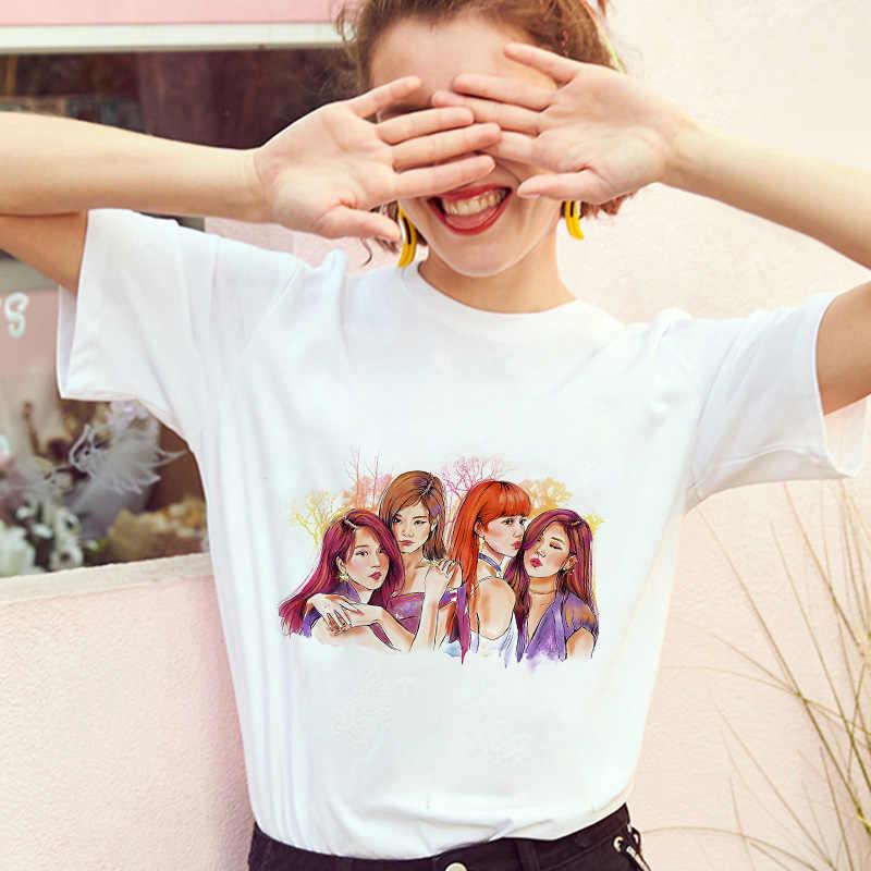 Leggly 2019 blackpink matar este amor t camisa topos venda quente manga curta camiseta verão coreano t camisas kpop roupas femininas topo