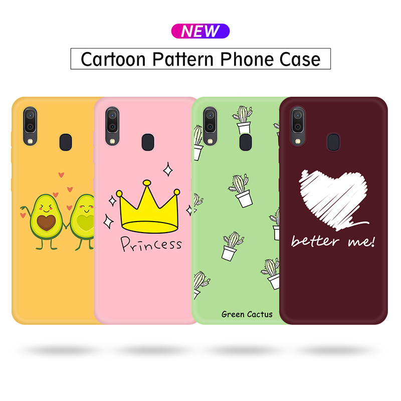 Colorful <font><b>Cartoon</b></font> Soft TPU Silicone <font><b>Case</b></font> For Samsung Galaxy A10 A20 A30 A40 <font><b>A50</b></font> A60 A70 M10 M20 M30 M40 Protection Cover Housing image