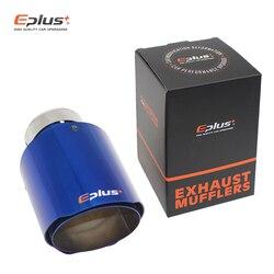 EPLUS końcówka tłumika samochodowego układ wydechowy uniwersalny prosty niebieski stal nierdzewna dekoracje tłumiki rury wydechowej multi-size dla Akrapovic