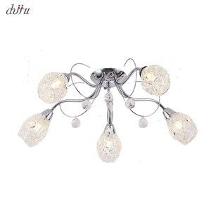 Image 1 - New led Chandelier For Living Room Bedroom Home chandelier 25W 5 E14 bulb Led hanglight lustre crystal Chandeliers Lamp