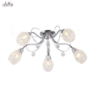Image 1 - Yeni led avize oturma odası yatak odası için ev avize 25W 5 E14 ampul Led hanglight parlaklık kristal avizeler lamba