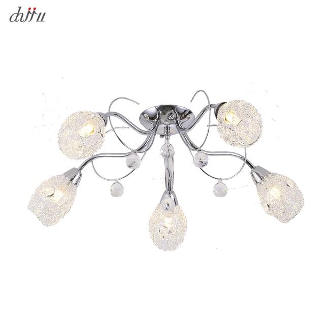 Yeni led avize oturma odası yatak odası için ev avize 25W 5 E14 ampul Led hanglight parlaklık kristal avizeler lamba
