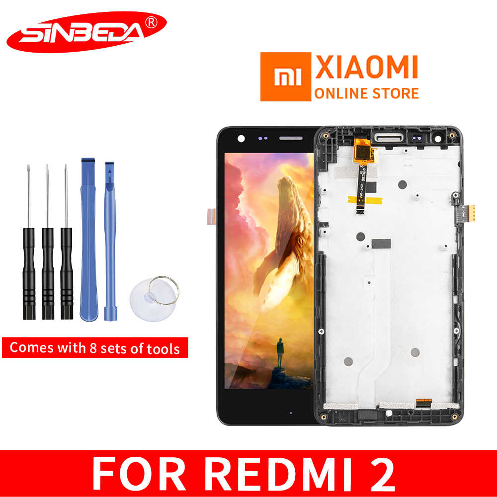 Original For Xiaomi Redmi 2 LCD Display Touch Screen with Frame Replacement Display for Xiaomi Redmi 2 Screen Repair Parts#1