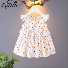 ZAFILLE Baby Girl Clothes Flare Sleeve Summer Dress For Girl Dot Printed Toddler Infant Kids Clothes Cute Casual Girls Dress zafille baby girl clothes long sleeve toddler summer dress dot printed girls clothing bow knot fashion kids princess girls dress